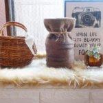 ペットの「ふわもこ骨壷カバー」オーダー例 表:ブラウンシルバー 柄:ダークグレー 裏:ホワイト