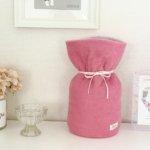 ペットの「ふわもこ骨壷カバー」オーダー例 表:ピンク 裏:シェルピンク
